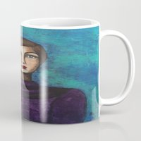 introvert Mugs featuring Introvert by Leanne Schuetz Mixed Media Artist