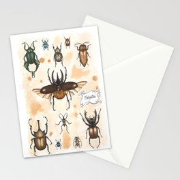 Beetles study Stationery Cards