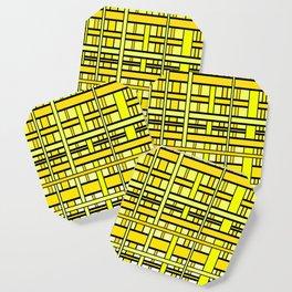 Yellow grid Coaster