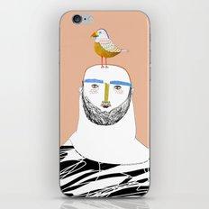 Man beard and bird iPhone & iPod Skin