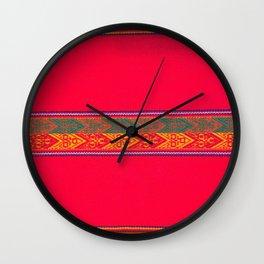 Beautiful Tapestry from Peru Wall Clock