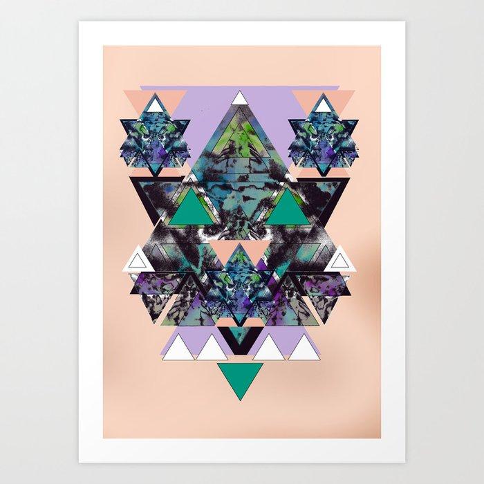 GEOMETRIC MYSTIC CREATURE Art Print