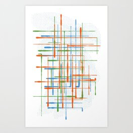 Abstract / Geometry - Colorful Terminal Art Print