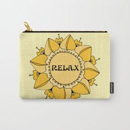 Relax Nouveau Golden Sun Mandala Carry-All Pouch