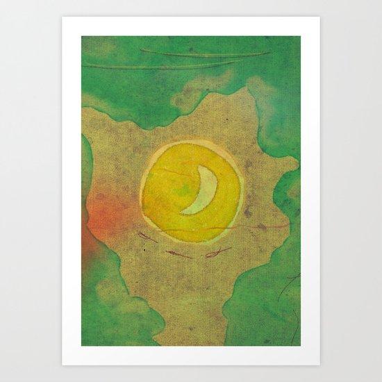 citrus moon Art Print
