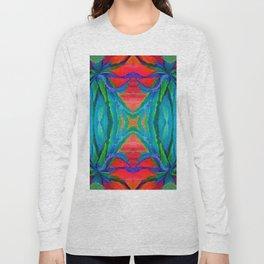 WESTERN MODERN ART OF BLUE AGAVES RED-TEAL Long Sleeve T-shirt