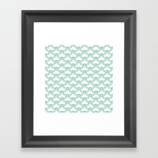 matsukata in grayed jade Framed Art Print