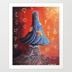 Merlin Mushroom Art Print
