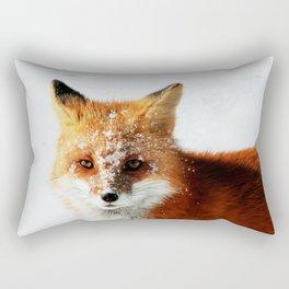 Snowy Faced Fox Rectangular Pillow