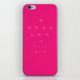 I love you - fingerspelled iPhone Skin