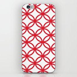 Interlocking Red iPhone Skin