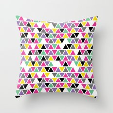 Pop Triangles Throw Pillow