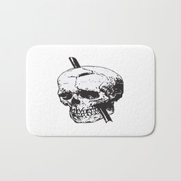Frontal Lobotomy Skull Of Phineas Gage Vector Isolated Bath Mat
