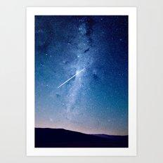 Shooting star Art Print