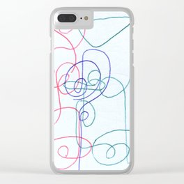 Psychology #111 Clear iPhone Case