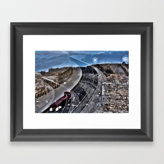 Highway Choices Framed Art Print