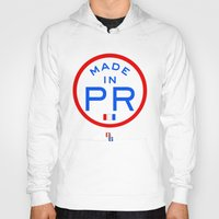 puerto rico Hoodies featuring Made in PR - Puerto Rico by DCMBR - December Creative Group