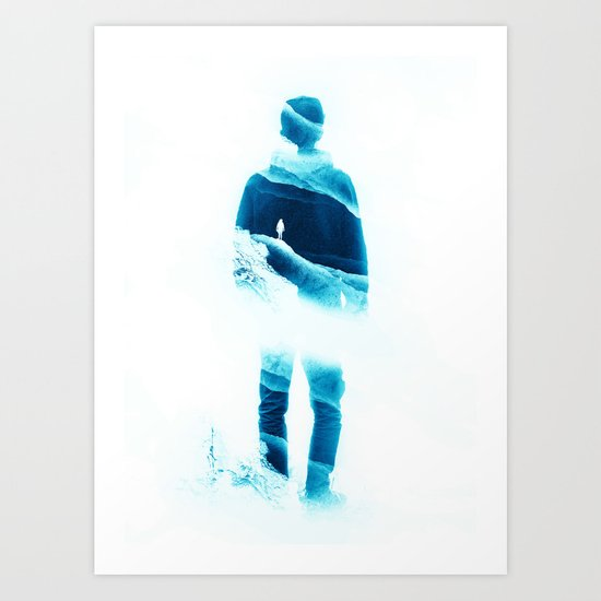 Love Isolation in Teal Art Print