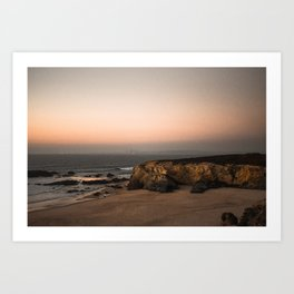 Lagos Sunset | The Algarves Portugal Coast | Fine art travel prints | saige ash studio  Art Print