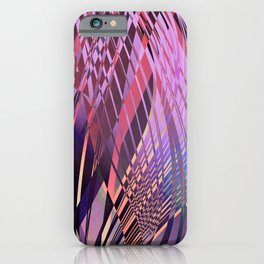 PRETTY PINK SWEEPING LINE PATTERN iPhone Case
