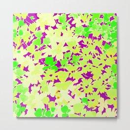 Fashion Textail Floral Print Design, Flower Allover Pattern Metal Print