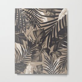 Tropical Jungle Leaves Pattern #2 #tropical #decor #art #society6 Metal Print