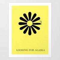 looking for alaska Art Prints featuring Looking for Alaska by green.lime