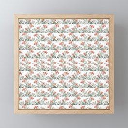 Photo Illustration Floral Motif Striped Design Framed Mini Art Print