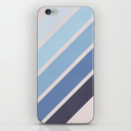 Blue Color Drift iPhone Skin