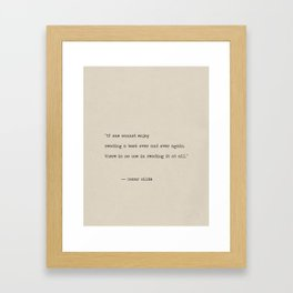 Oscar Wilde quote Framed Art Print
