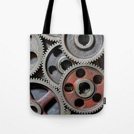 Group of old steel cogwheels Tote Bag