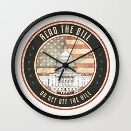 Read The Bill Wall Clock