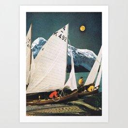 """Moon"" Art Print"