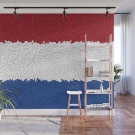 Extruded flag of the Netherlands Wall Mural
