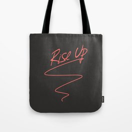 Rise Up - Revolution is Coming Anti Trump Political Art Tote Bag