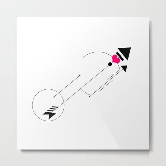 Cupid's Arrow Geometric Metal Print