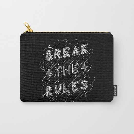 BREAK THE RULES Carry-All Pouch