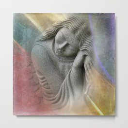 even guardian angels are tired sometimes Metal Print