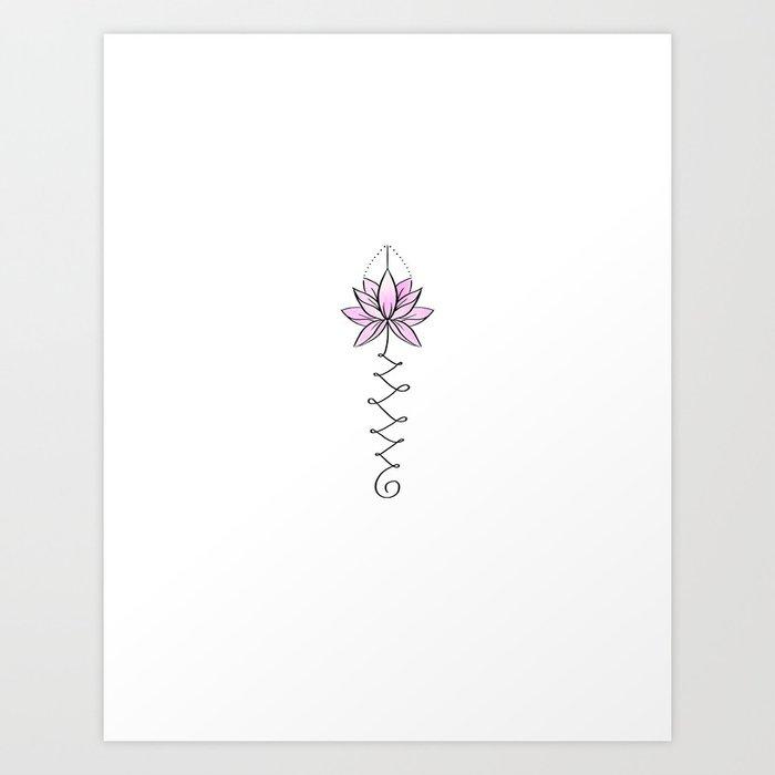 The Unalome: Unalome Lotus Art Print By Kastanje