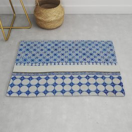 New Classic Blue Tiles Rug