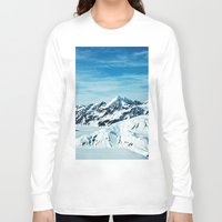 alaska Long Sleeve T-shirts featuring Alaska by Elise Giordano
