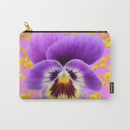 LILAC  PANSY SPRING DAFFODILS ART Carry-All Pouch