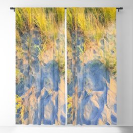 Beach Grass Paintings Blackout Curtain