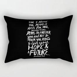 Jeremiah 29:11 II Rectangular Pillow