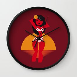 La nena colorada Wall Clock