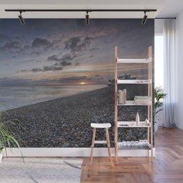 Hythe Beach at Sunset Wall Mural