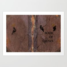Old Book Of Crows Art Print
