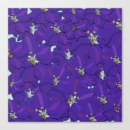 Larkspur Love Canvas Print
