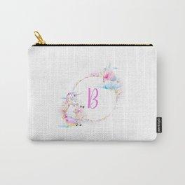 Leter B Unicorn Mug Carry-All Pouch