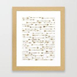 Contrary arrows Framed Art Print